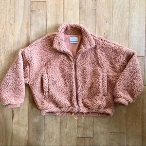Urban Outfitters Orange Teddy Jacket Size S